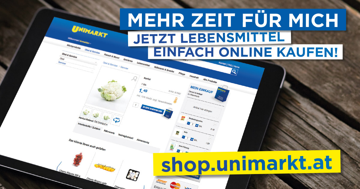 einfach g nstig online lebensmittel kaufen unimarkt online shop. Black Bedroom Furniture Sets. Home Design Ideas