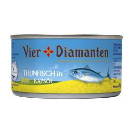 Vier Diamant Thunfisch in Rapsöl