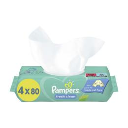 Pampers Feuchttücher Fresh Clean 4x80er